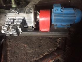 Электрокомпрессор ЭК-7В c общепромышленным двигателем на раме
